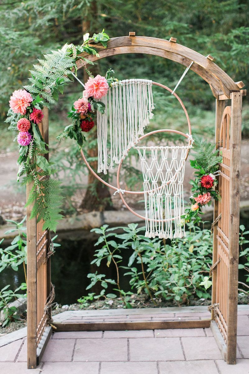 Wedding decorations arch  Luxurious Bohemian Wedding Ideas  Wedding ceremony arch Ceremony