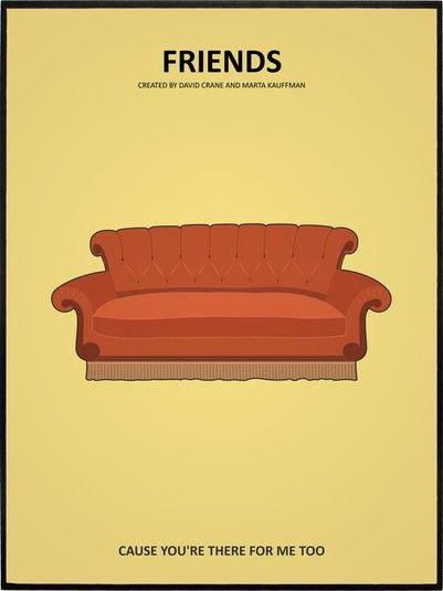 Friends Sofa Leo Romeu Tv Show Minimalist Poster Best Shows