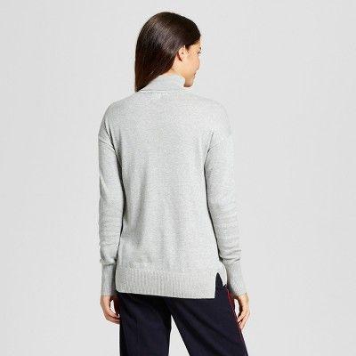 8f46ee53976 Women s Turtleneck Sweater - A New Day Gray Xxl