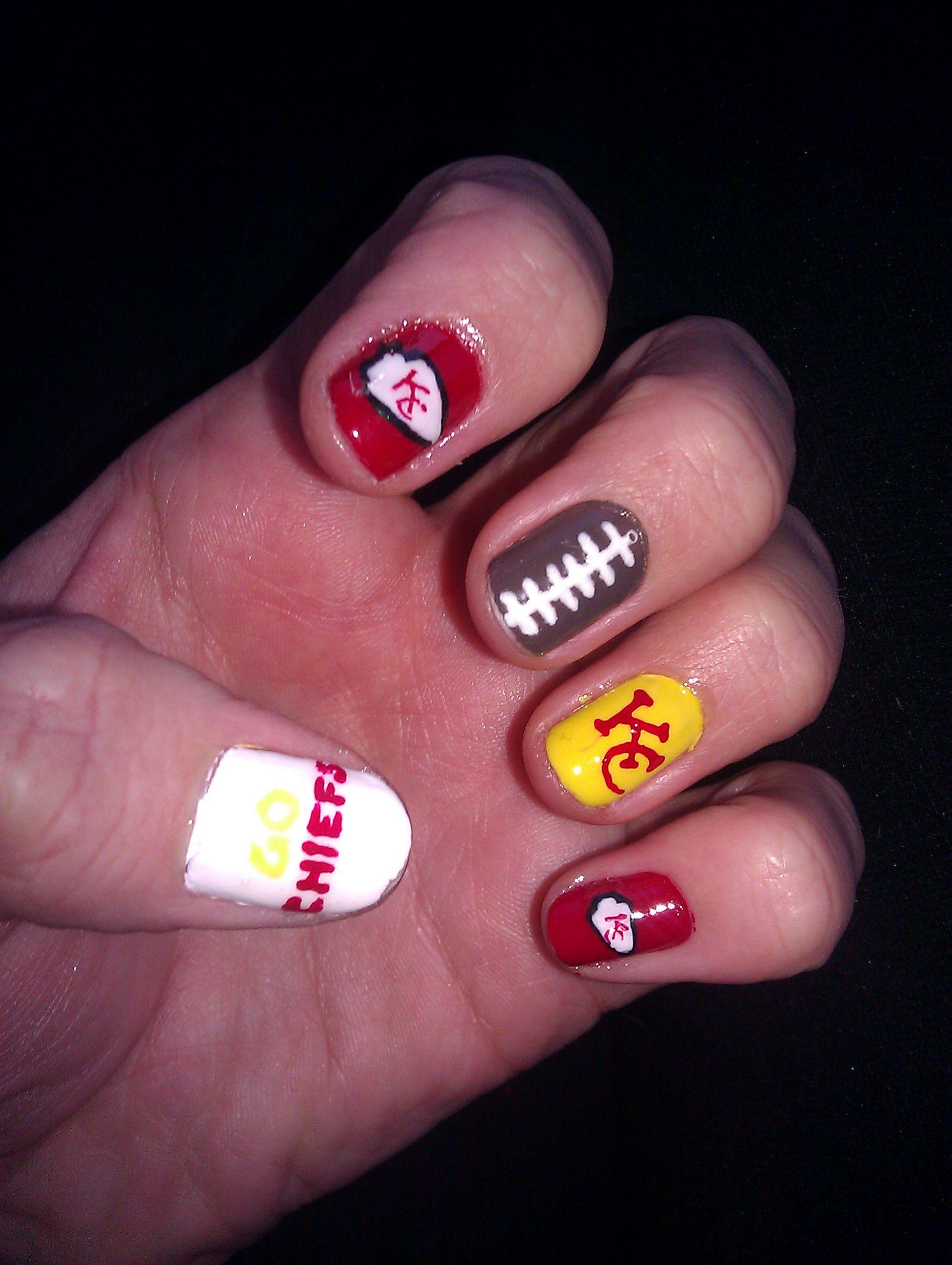 Kansas City Chiefs Nails Favs Pinterest Kansas City And