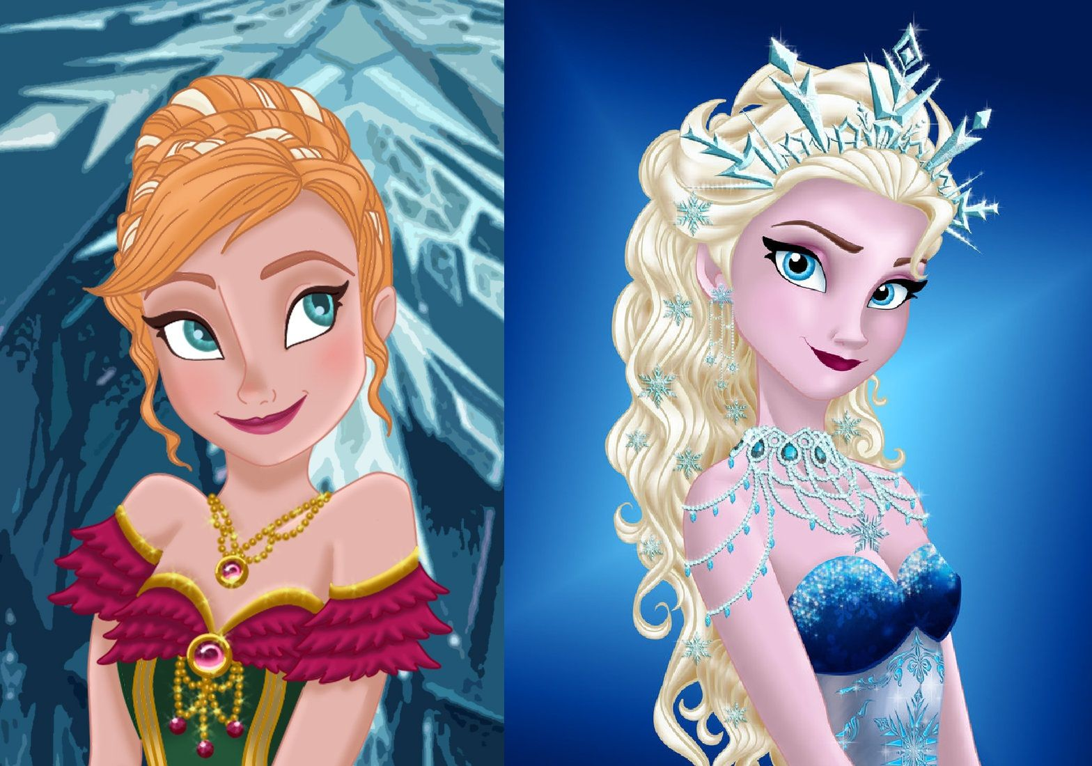 Royal jewels queen elsa princess anna walt disney love live never too old for disney - Princesse anna et elsa ...