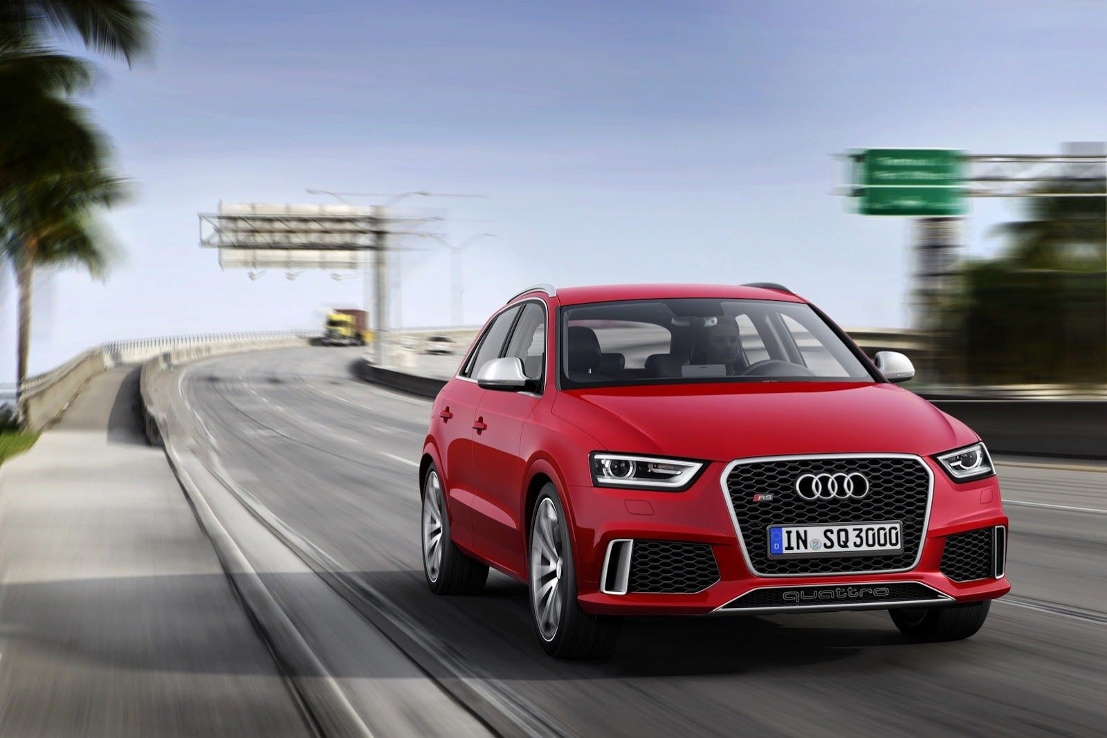 The 2014 audi rs the first rs q model will make its formal debut at the 2013 geneva auto show