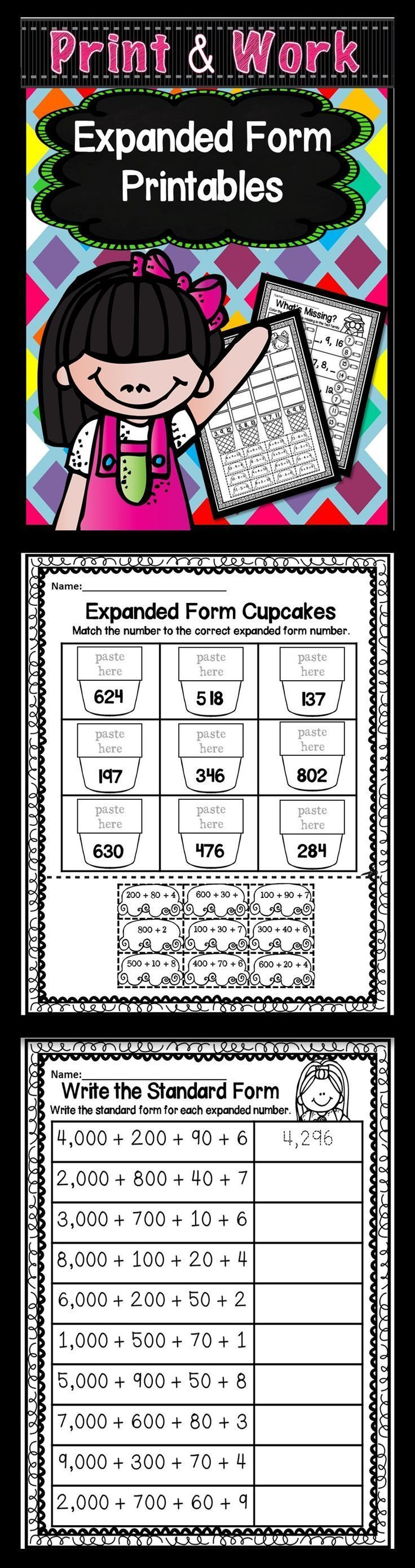 Expanded Form | Expanded form, Creative teaching, Math ...