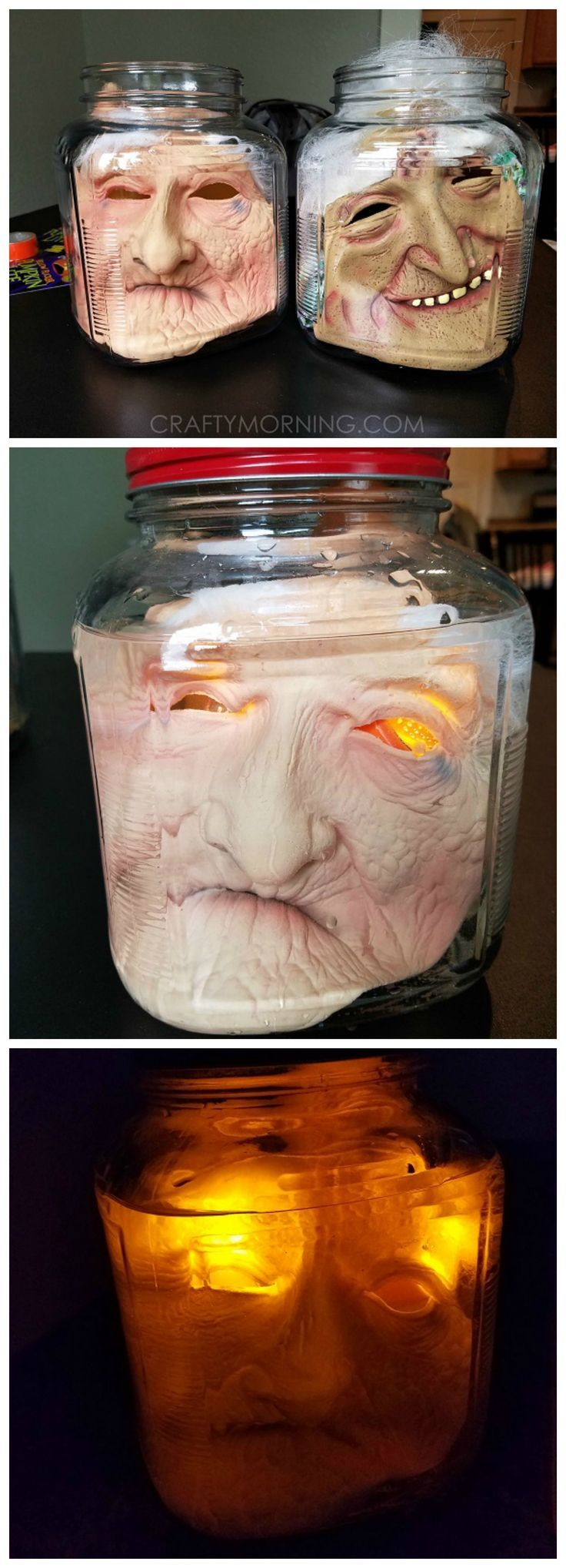 How to Make Creepy Heads in Jars - Crafty Morning