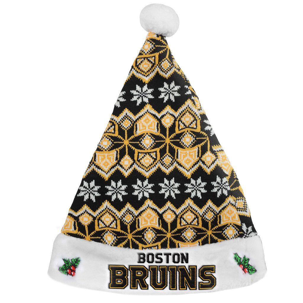 865f96222 Boston Bruins Knit Santa Hat - 2015