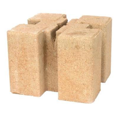 Oldcastle 8 in. x 8 in. x 6 in. Tan Brown Planter Wall Block ...