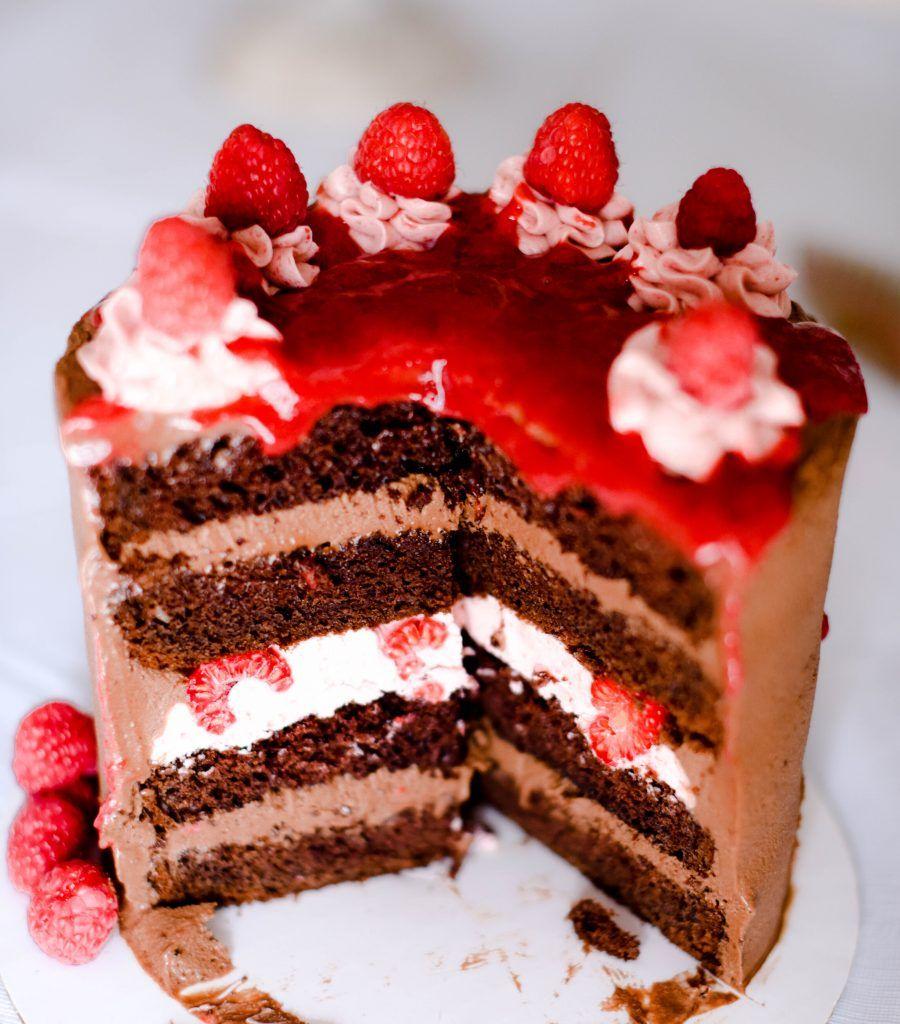Chocolate Raspberry Cake :: Home Cooking Adventure