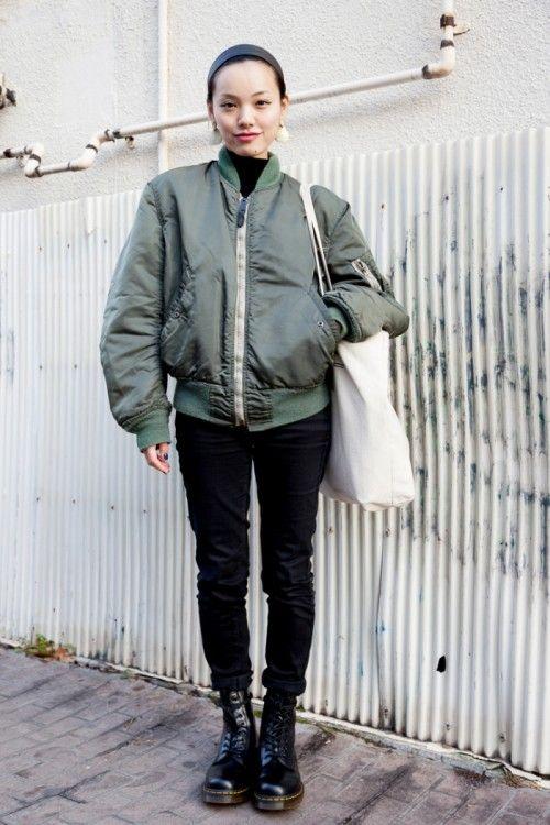 Bomber jacket  | Dr Martens boots