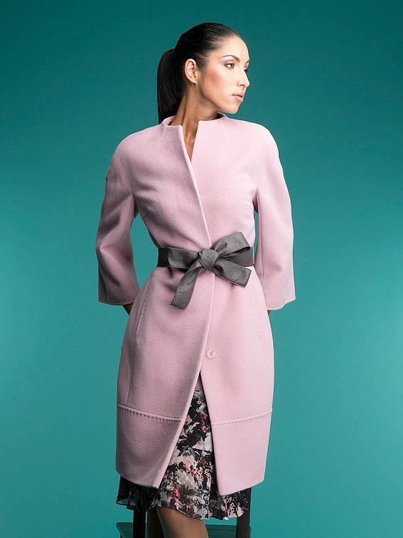 Пальто женское цвет светло-розовый, Ворс, артикул 30135415