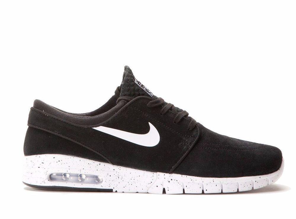 Nike SB Stefan Janoski Max L Skateboarding Shoes Mens 14 Black White 685299  002  Nike  Skateboarding f28e28f7a