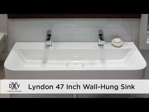 Get The Expansive Lyndon 47 Inch Bathroom Wall Mounted Sink By DXV And  Never Want For Rinsing Real Estate.