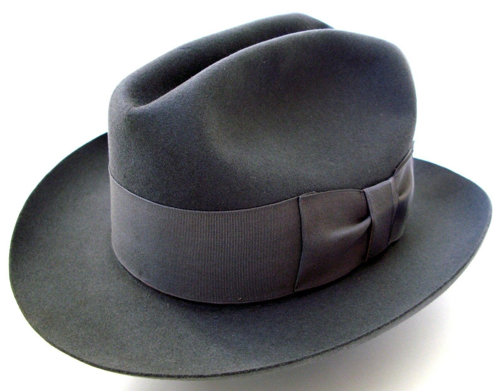 Vintage 1920s Stetson Select Quality 7 1 8 Men s Gray Fedora Hat  Featherweight  6adcd87b33c