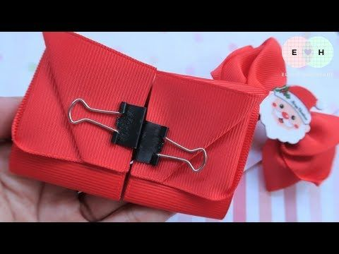 How To Make A Santa Bow With Ribbon — Ribbon Tricks & Easy Making Tutorial #82 - YouTube #howtomakeabowwithribbon