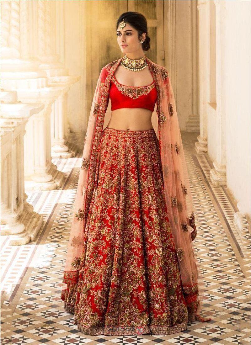0dc5dc6e481c Exclusive heavy designer beautiful red bridal lehenga choli ff in pink also  rh pinterest