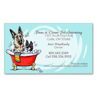 Blue tub groomer business card | Groomers Online Printing ...