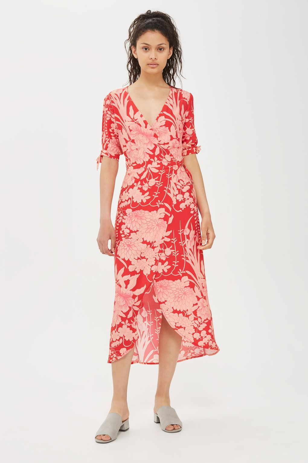 3a006e65444 Oriental Floral Wrap Dress - New In Fashion - New In - Topshop Europe