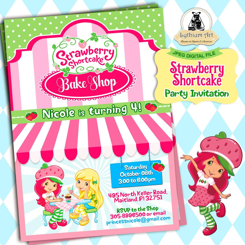 Strawberry Shortcake Invitation Strawberry Shortcake Party