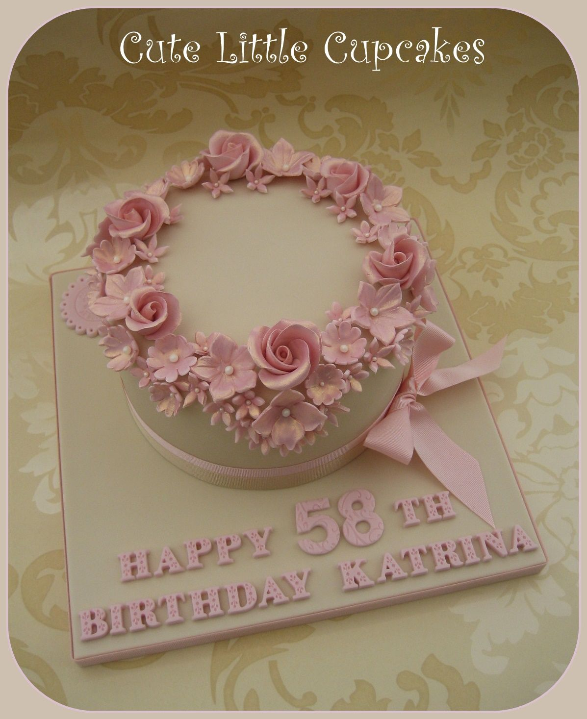 Shabby Chic Anniversary Cakes Topsimages