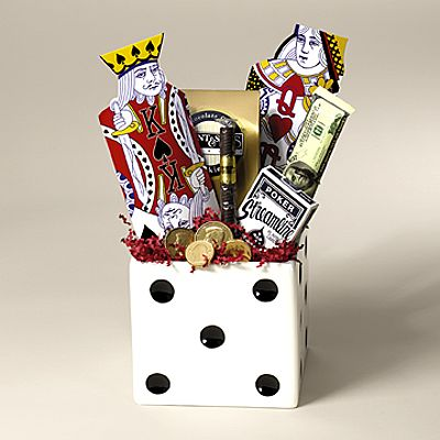 Gambling gift baskets casino party equipment