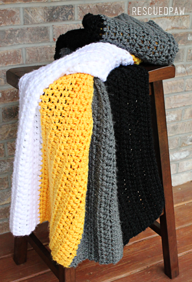 Pittsburgh Crochet Throw Blanket | Manta, Frazada y Cobija