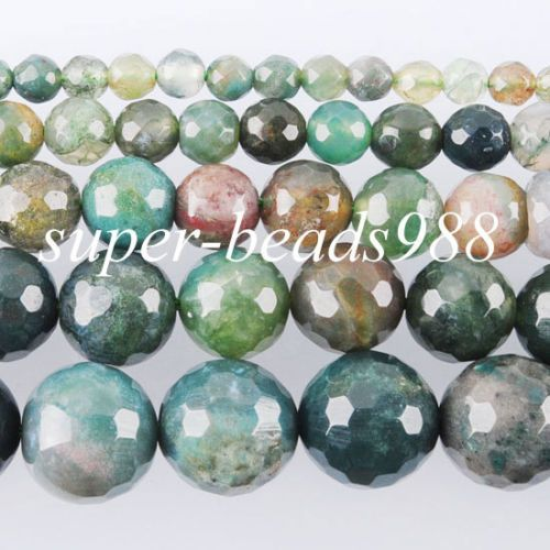 Lots Natural Aquatic Agate Round Gemstone Stone Loose Spacer Bead Finding 4-10MM