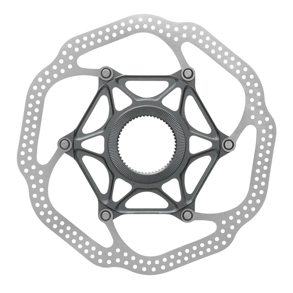 Silver//Black Uberbike Radiator Floating Disc Brake Rotor with Heat Dissipation Alloy Fins
