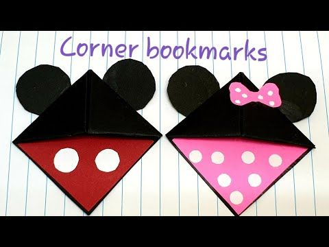Photo of How to make corner bookmarks-Mickey Mouse and Minnie Mouse