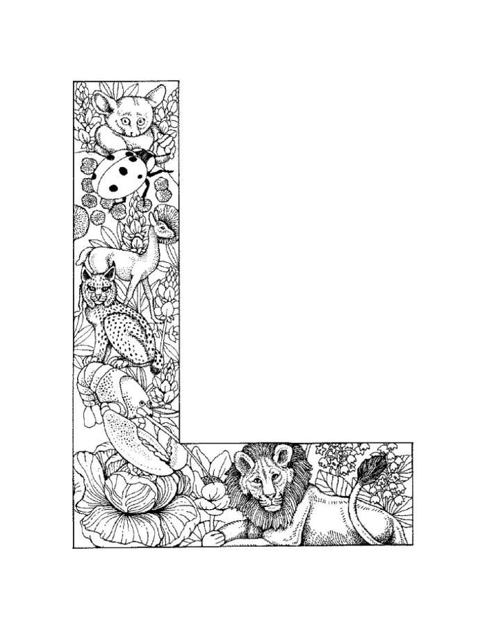j coloring pages for adults - photo #47