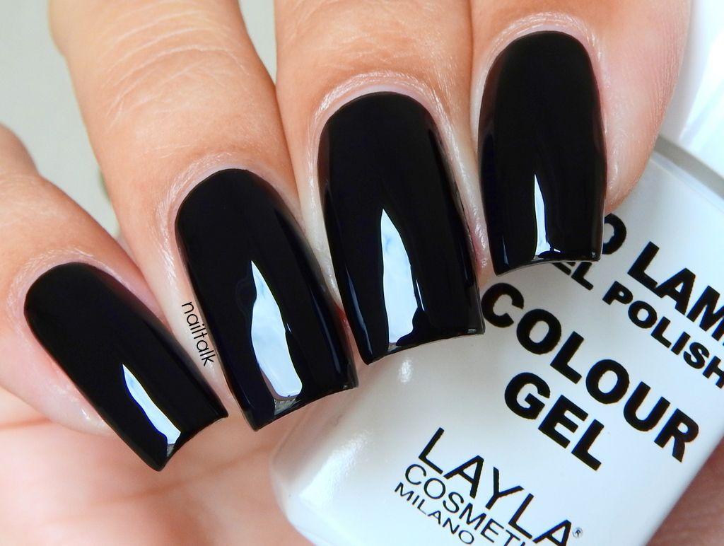 Layla No Lamp Gel Polish Carbon Black | Nails | Pinterest | Carbon black