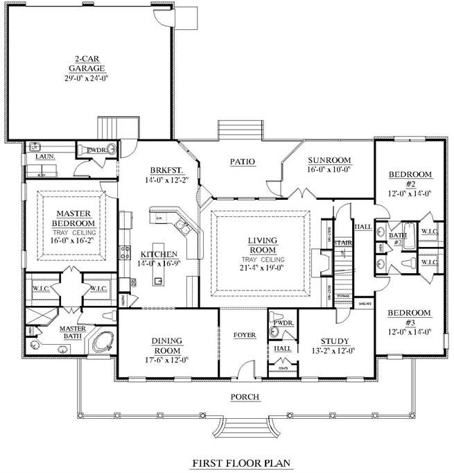 House Plan 2848 A Huddleston Schematic Plan Needs A Mudroom Porch House Plans How To Plan Garage House Plans