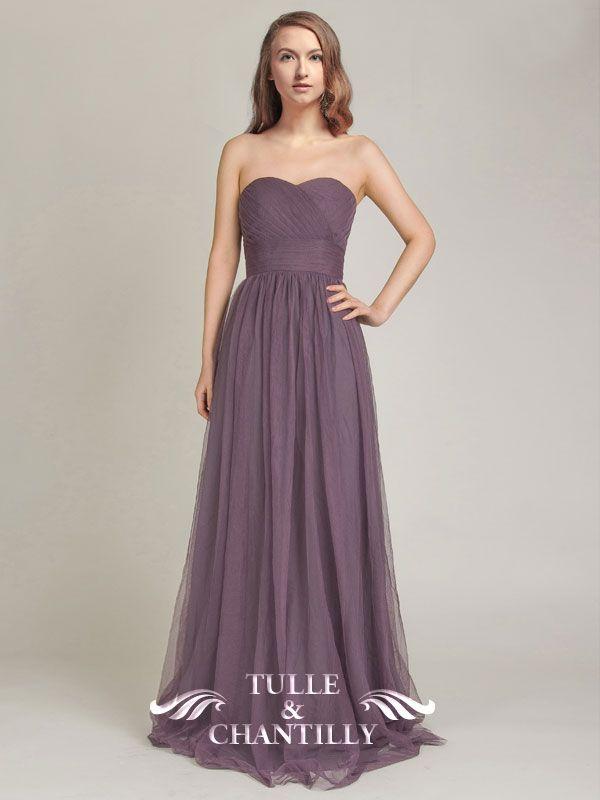 Elegant Convertible Long Tulle Bridesmaid Dress TBQP308   Navy ...