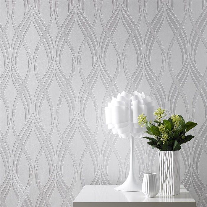 Neo White Wallpaper   White Geometric Wall Coverings By Graham Brown