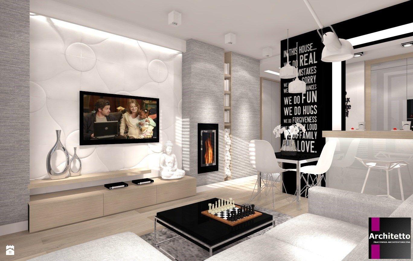 Wystroj Wnetrz Salon Ze Struktura Dekoracyjna Na Scianie Pomysly Na Aranzacje Projekty Ktore Stanowia Prawdziwe Inspiracje Dla K Interior Home Decor Home