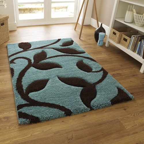 Theresa Carving Blue Area Rug Charlton Home Rug Size Rectangle 160 X 220cm Living Room Decor Brown Couch Teal Rug