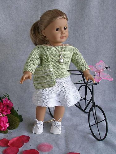 American Girl 18 Doll Springtime Pattern By Ase Bence Pinterest