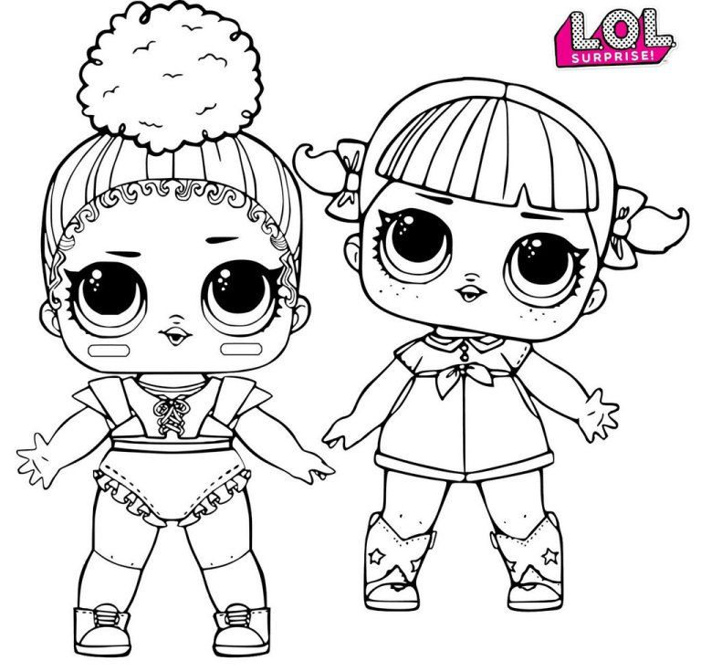 Cherry And Touchdown LOL Surprise Coloring Page Copy