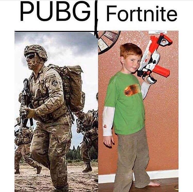 Pubg Vs Fortnite In Real Life Memes
