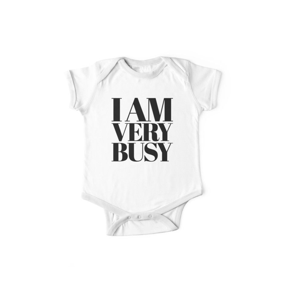 'I am very busy White/Black' Kids Clothes by Under ...