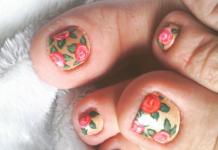 Las uñas de los pies también se pintan. Algunos modelos del 2015