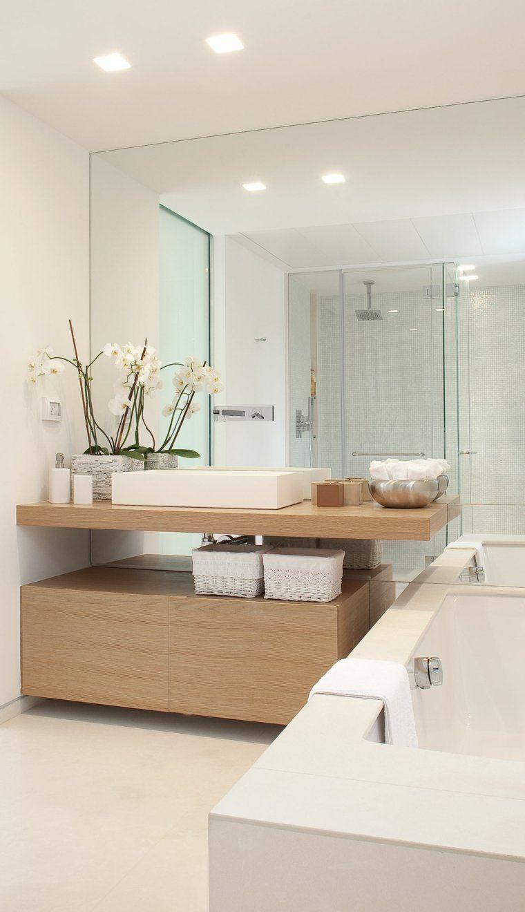 Salle de bain déco scandinave en blanc et bois | Drop, Bath and ...