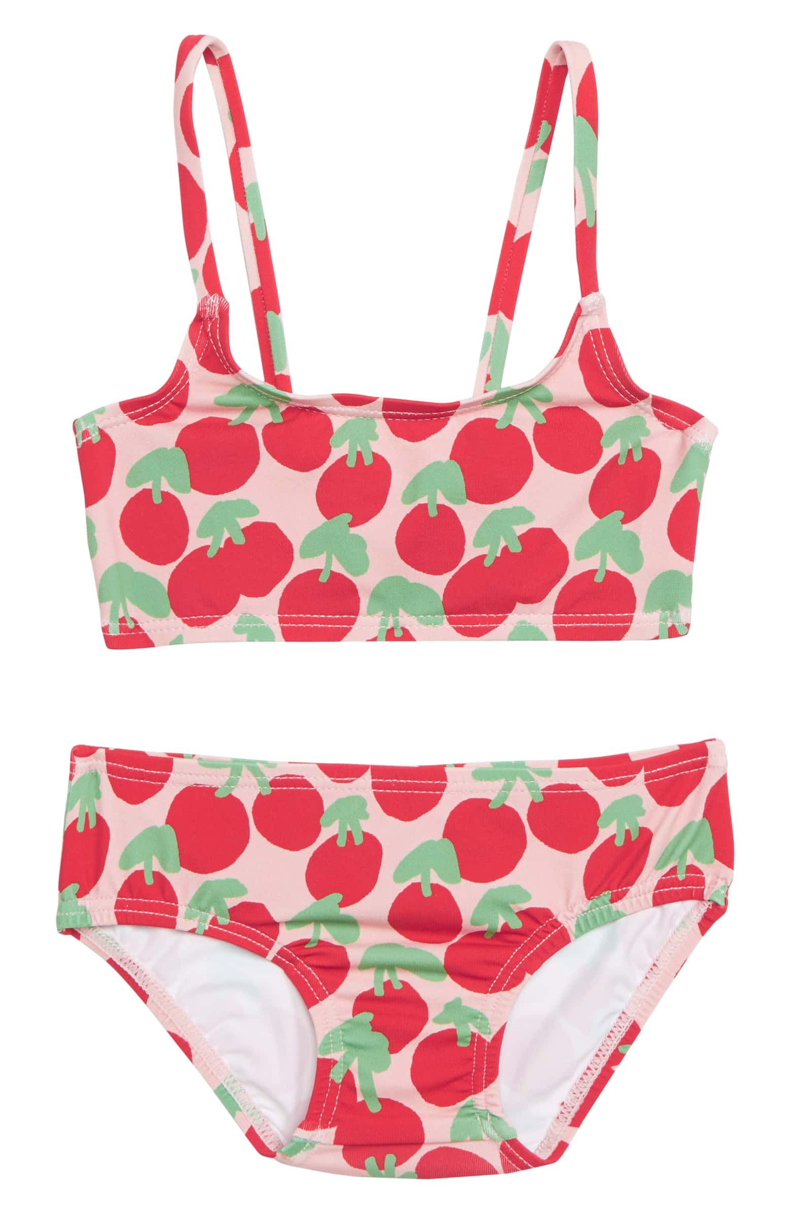 dc01ad434bb Stella McCartney Cherry Print Two-Piece Swimsuit, Main, color, RED ...
