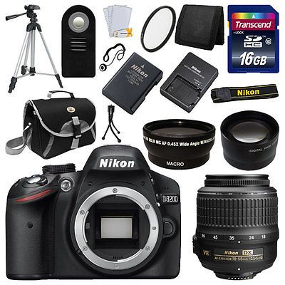 ebay offers 62% Off (Save $619.1) Nikon D3200 Digital SLR DSLR Camera  3 Lens 18-55 VR All You Need KIT Brand New for $379.95 published in Digital Cameras Deals Click here to Buy Deals >> http://ift.tt/1YfNTvK