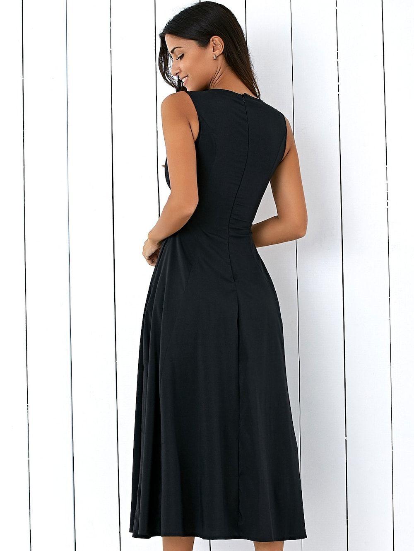 Long A Line Sleeveless Semi Formal Plain Prom Dress | Plain prom dresses