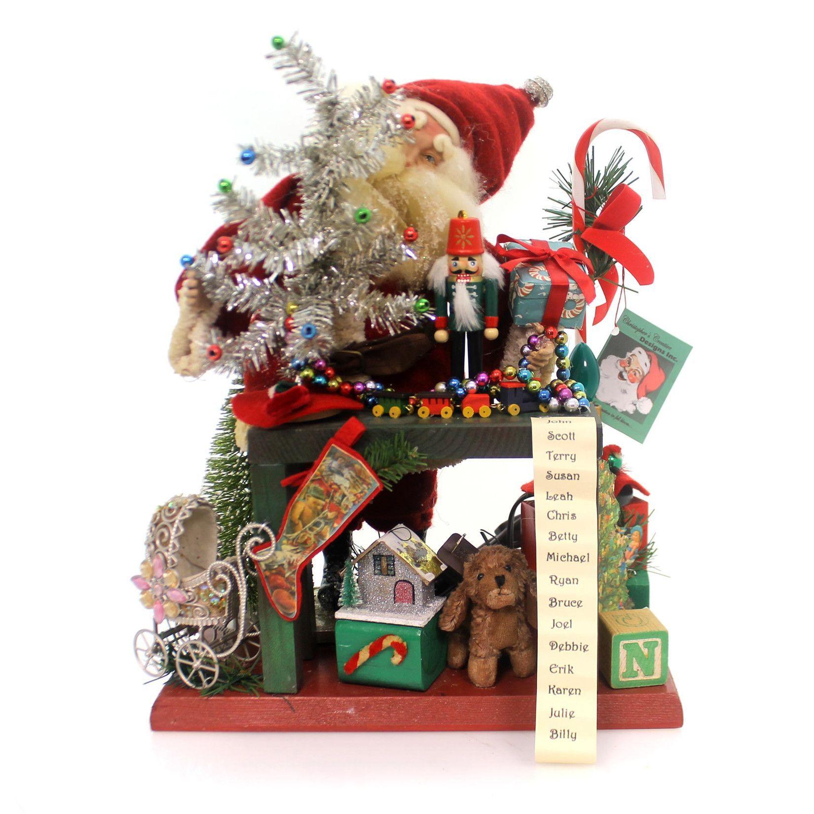 Christmas Santa Workshop With Light Christmas Decor