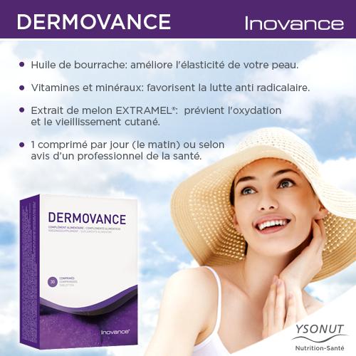 L'été approche et votre peau a besoin de soins spécifiques pour prendre le soleil de façon adéquate et sans nuire à votre teint. Notre supplément alimentaire Inovance DERMOVANCE à base d'extraits de végétaux, vitamines, antioxydantes et minéraux bétacarotène et sélénium vous aidera à préparer votre peau pour l'été. http://ow.ly/xY8jx
