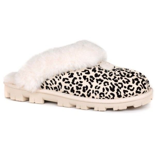 Ugg Australia White Coquette Rosette Slipper ($120) ❤ liked on Polyvore featuring shoes, slippers and white