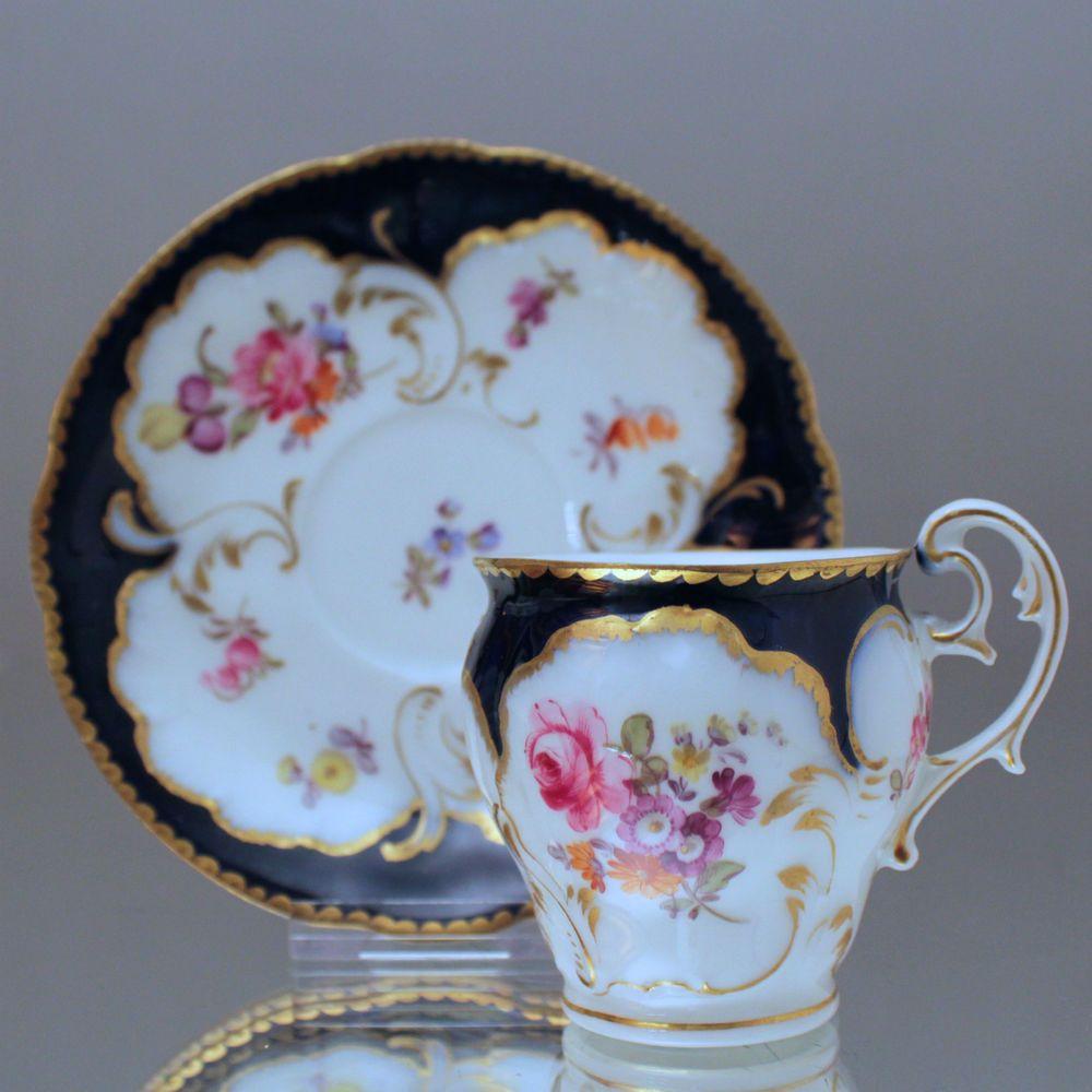 nymphenburg seltene mokkatasse mit kobalt blau neo rokoko historismus blumen demi tasse cup. Black Bedroom Furniture Sets. Home Design Ideas