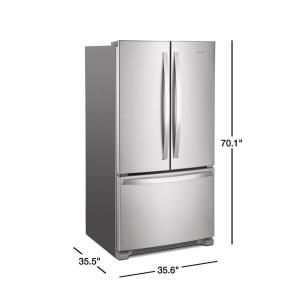 Whirlpool 25 Cu Ft French Door Refrigerator In Fingerprint Resistant Stainless Steel With Internal Water Dispenser Wrf535swhz The Home Depot Stainless Steel French Door Refrigerator French Door Refrigerator French Doors