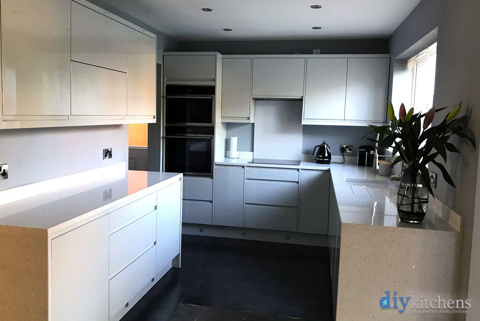 Best An Innova Luca Gloss Dove Grey Handleless Kitchen 640 x 480