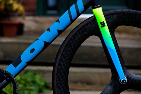 Alpina Fork Painted By Death Spray Custom On A LOW Frame Bici - Alpina forks